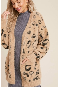 Bluivy Fuzzy leopard cardigan - Product List Image