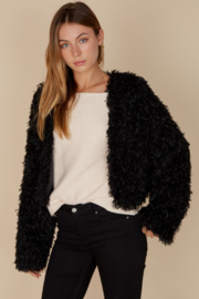blue blush Fuzzy Lightweight Jacket - Front cropped