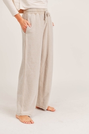Mono B Fuzzy Mineral Washed Lounge Pants - Front full body