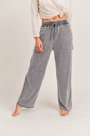 Mono B Fuzzy Mineral Washed Lounge Pants - Front cropped