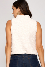 She and Sky Fuzzy Mock Neck Top - Product Mini Image