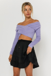 Olivaceous  Fuzzy OTS Sweater - Product Mini Image