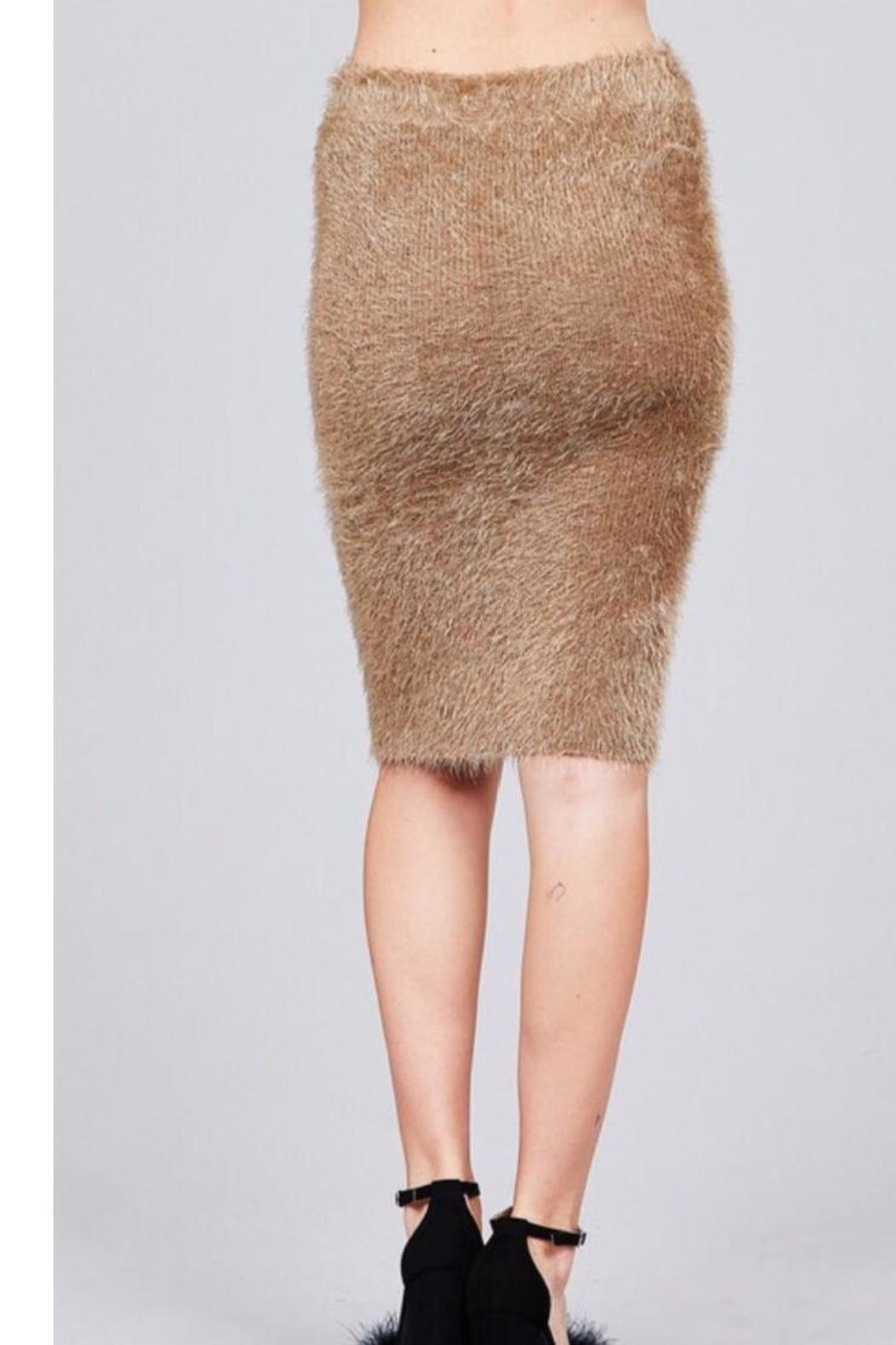 Active USA Fuzzy Pencil Skirt - Side Cropped Image