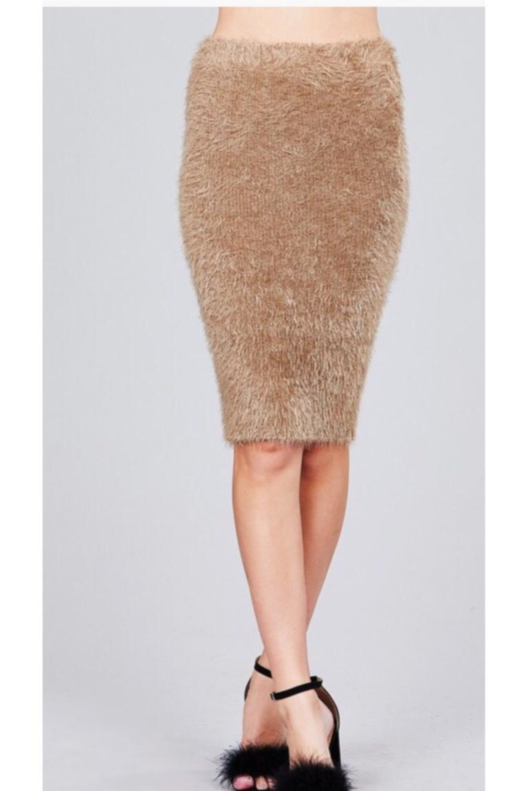 Active USA Fuzzy Pencil Skirt - Front Full Image