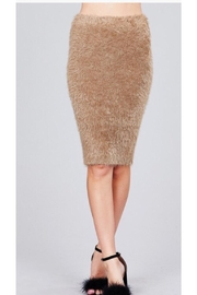 Active USA Fuzzy Pencil Skirt - Front full body
