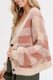Listicle Fuzzy Plaid Button-Down-Cardigan - Product Mini Image