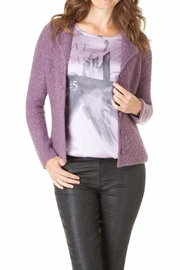 Yest Fuzzy Plum Cardigan - Product Mini Image