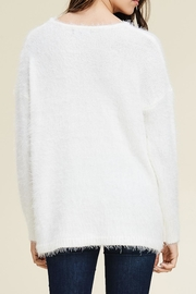 Staccato Fuzzy Pullover Sweater - Side cropped