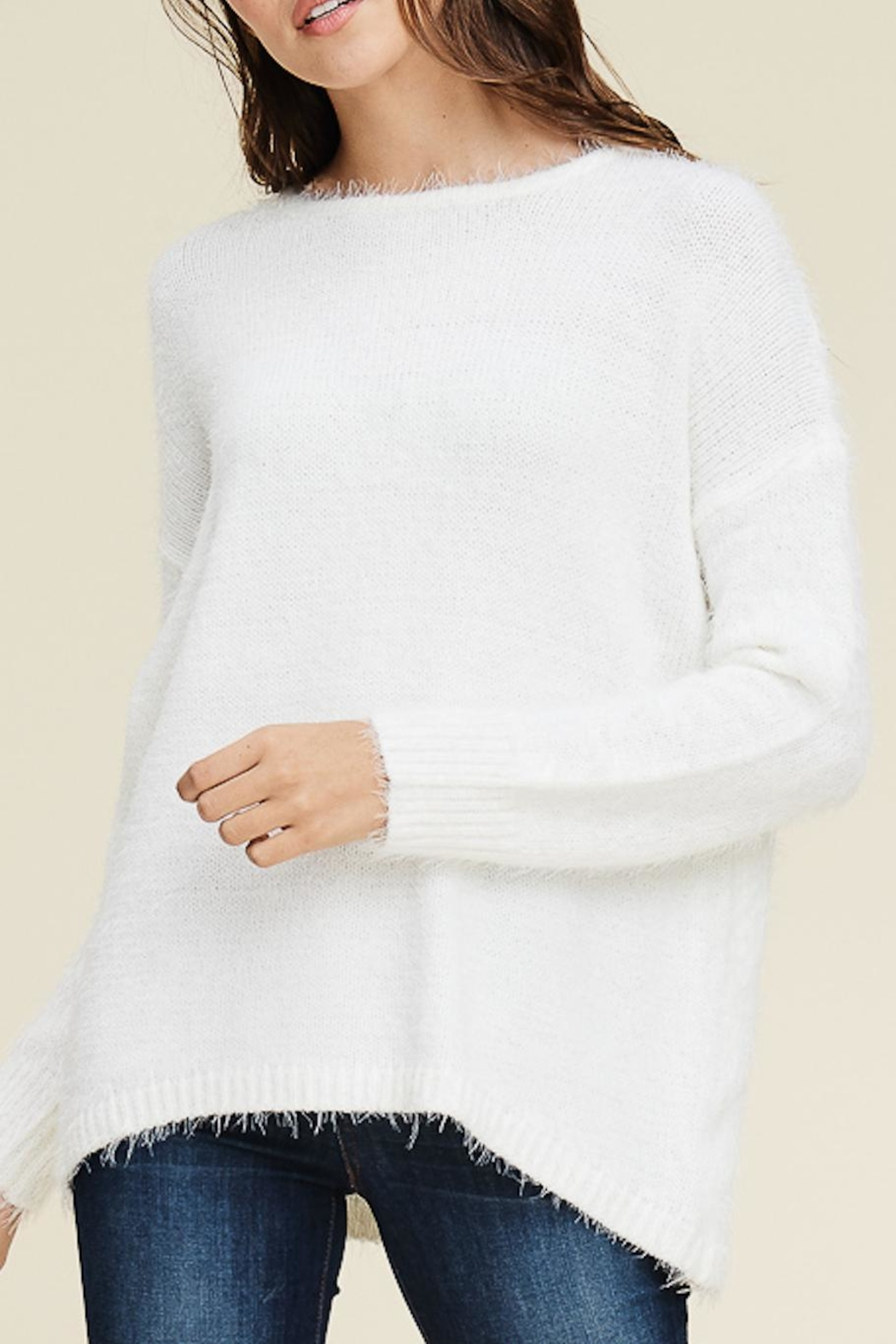 Staccato Fuzzy Pullover Sweater - Main Image