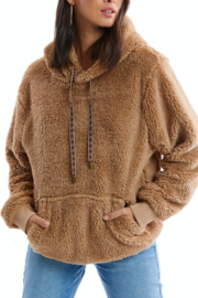 Allison Collection Fuzzy Sherpa Pullover - Product Mini Image