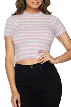 Hot & Delicious Fuzzy Stripe Top - Product List Image
