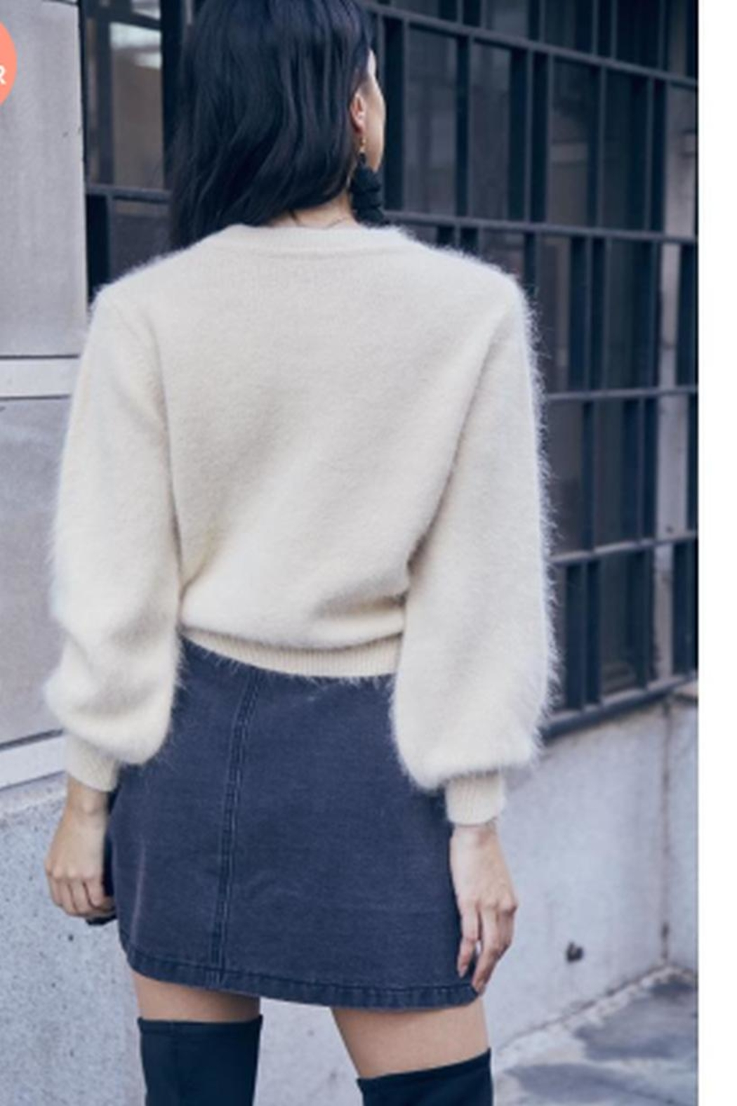 SAGE THE LABEL Fuzzy Sweater - Front Full Image