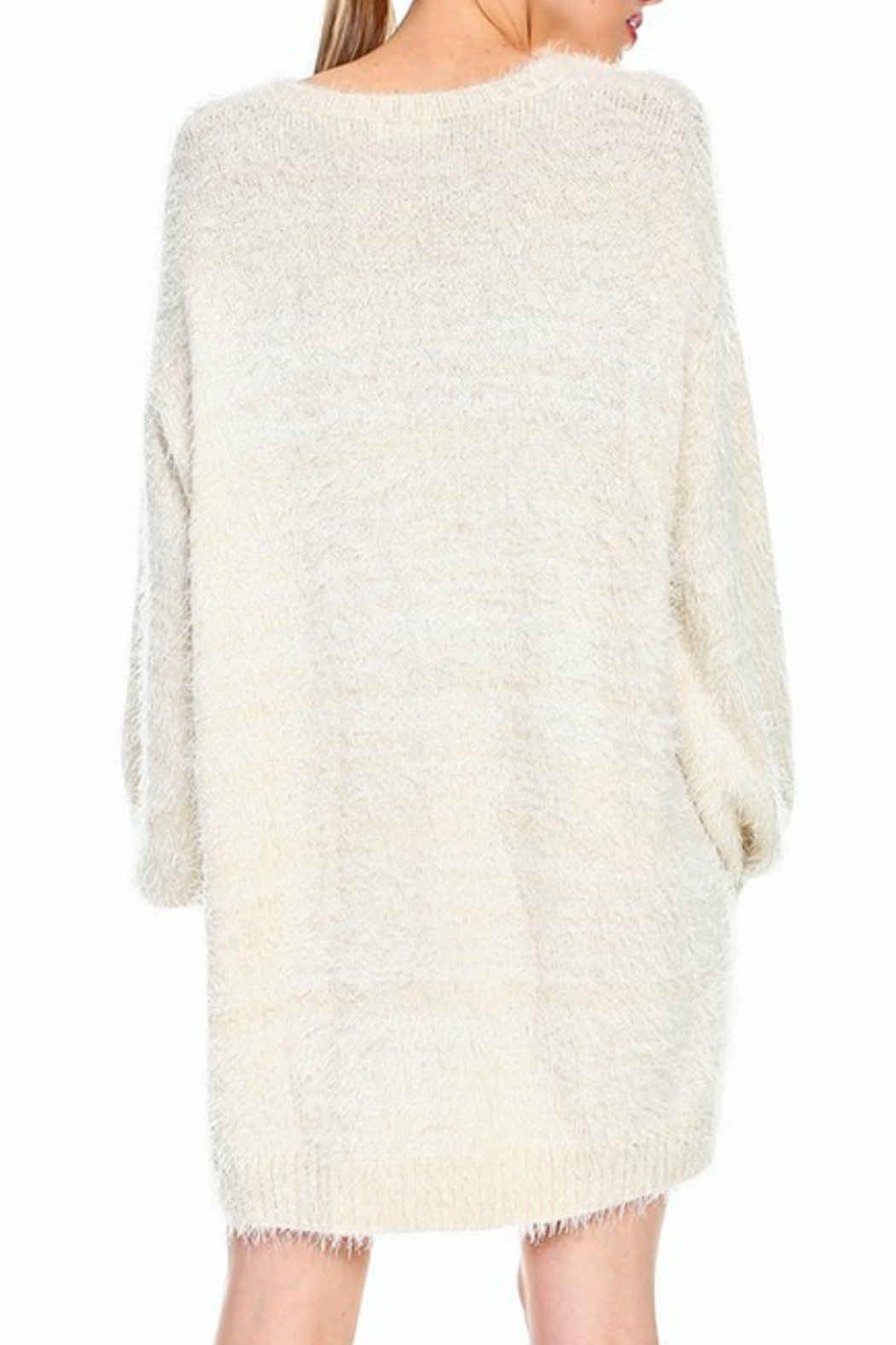 TCEC Fuzzy Sweater Dress - Side Cropped Image