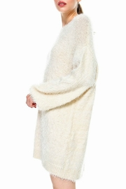 TCEC Fuzzy Sweater Dress - Front full body