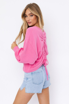 Le Lis Fuzzy Sweater with Back Ruching - Alternate List Image