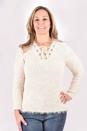 Ethyl Fuzzy Tie Sweater - Product Mini Image