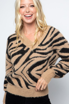 Shoptiques Product: Fuzzy Tiger Sweater