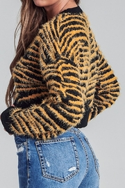 AGP Apparel Fuzzy Tiger Sweater - Front full body