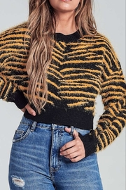 AGP Apparel Fuzzy Tiger Sweater - Front cropped