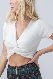 Trend Notes  Fuzzy Twist Front Top - Front full body