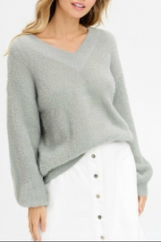 Listicle Fuzzy V-Neck Sweater - Product Mini Image