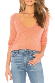 MINKPINK Fuzzy V-Neck Sweater - Product Mini Image