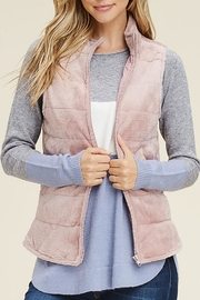 Staccato Fuzzy Velour Vest - Product Mini Image