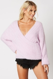Cotton Candy Fuzzy Wrap Sweater - Product Mini Image