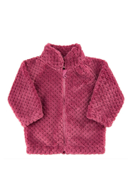 Minymo Fuzzy Zip-up Jacket - Front cropped