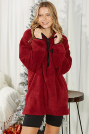 Mittoshop Fuzzy Zip Up Pullover - Front full body