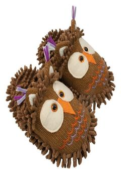 Fuzzy Friends Owl Slippers - Alternate List Image