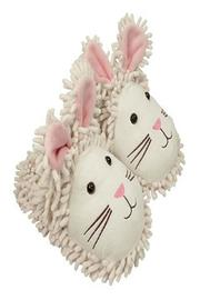 Fuzzy Friends Bunny Slippers - Front full body