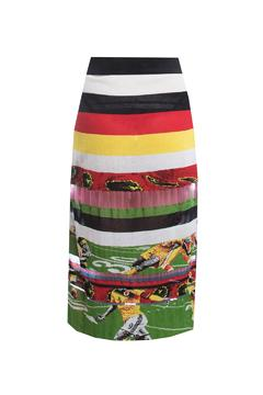 Fyodor Golan Liquid-Print Knit Skirt - Alternate List Image