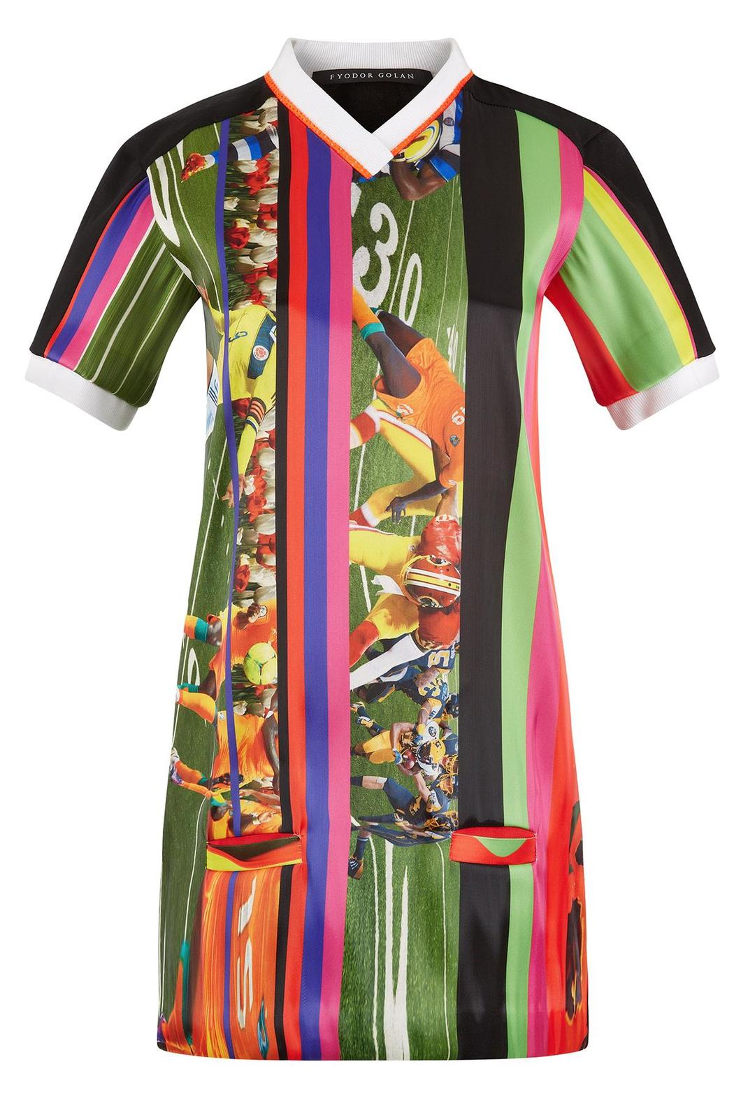 Fyodor Golan Soccer Print Dress - Main Image