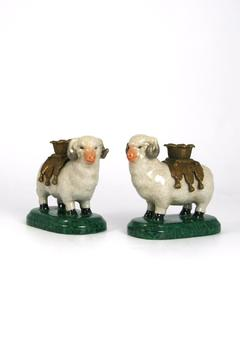 Shoptiques Product: Pair Sheep Candleholders