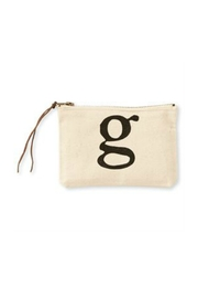 MUDPIE G Cosmetic Bag - Front cropped