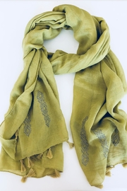 Do Everything in Love G/g Tassel Scarf - Front cropped