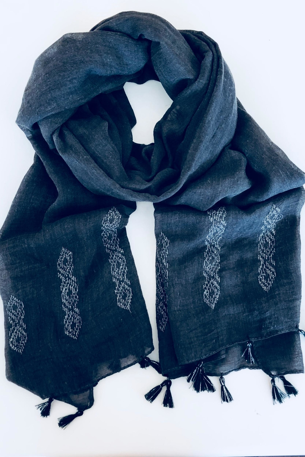 Do Everything in Love G/g Tassel Scarf - Front Cropped Image