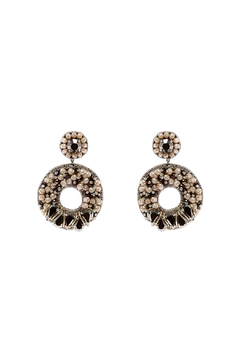 Shoptiques Product: Beaded Circle Earrings