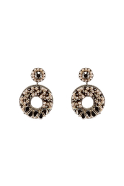 G Lish Beaded Circle Earrings - Front cropped