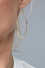 Gorjana G Ring Hoop Earrings - Side cropped
