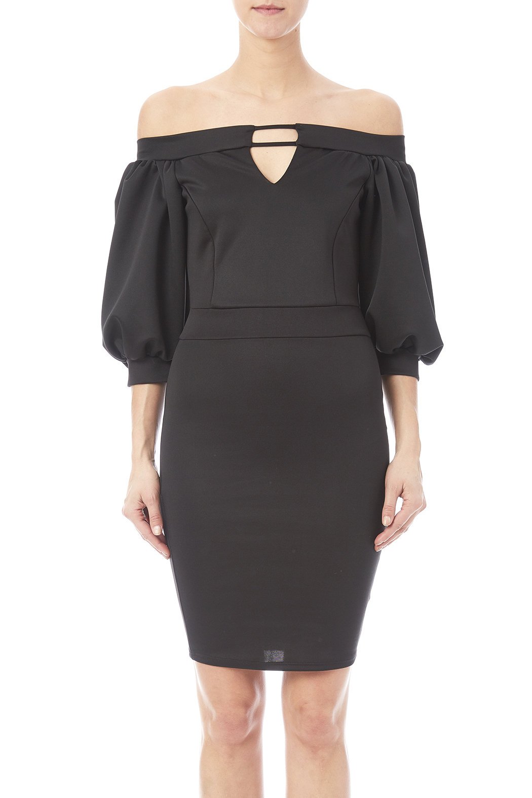g1k puff sleeve dress from prospect heights by ak couture