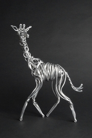 G Gallery & Glass Studio Aluminum Giraffe Sculpture - Product Mini Image