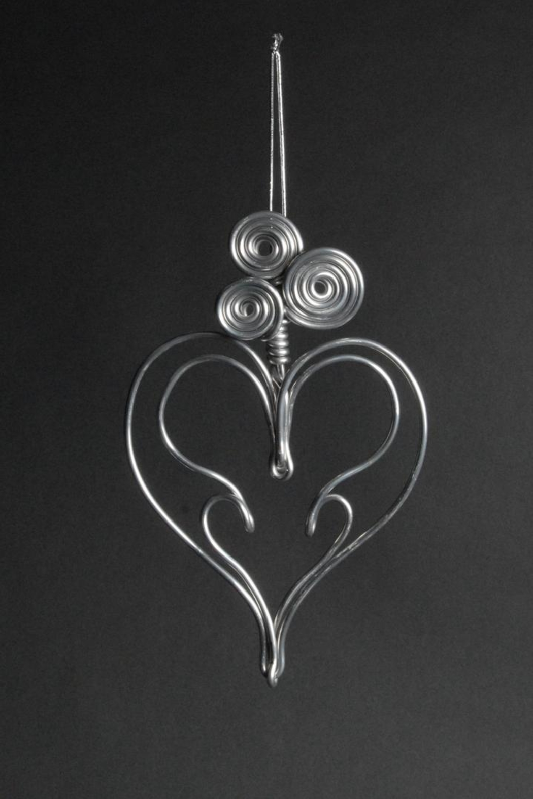 G Gallery & Glass Studio Aluminum Heart Ornament - Front Cropped Image