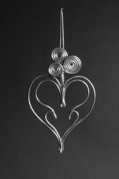 Shoptiques Product: Aluminum Heart Ornament