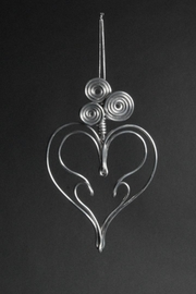 G Gallery & Glass Studio Aluminum Heart Ornament - Product Mini Image
