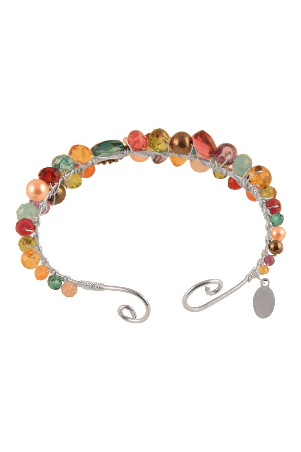 G Gallery & Glass Studio Gemstone Silver Bracelet - Front Full Image