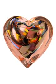 G Gallery & Glass Studio Glass Heart Paperweight - Front cropped