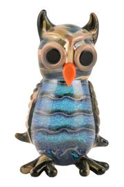 G Gallery & Glass Studio Glass Owl Figurine - Front cropped