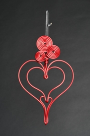 G Gallery & Glass Studio Red Heart Ornament - Front cropped